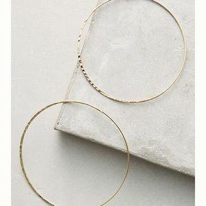 Anthro Isabel Large Hoop Earrings